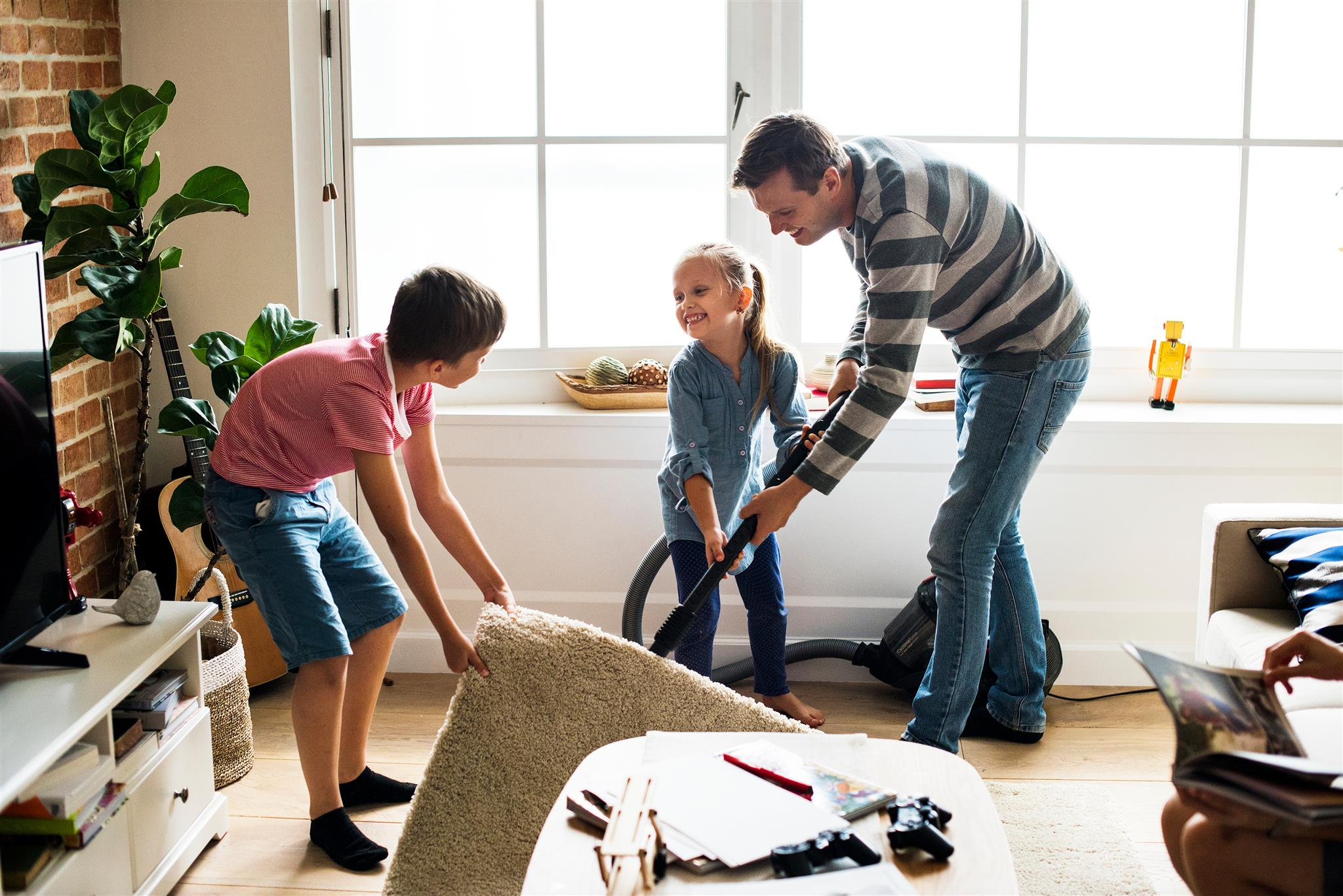 house cleaning with kids